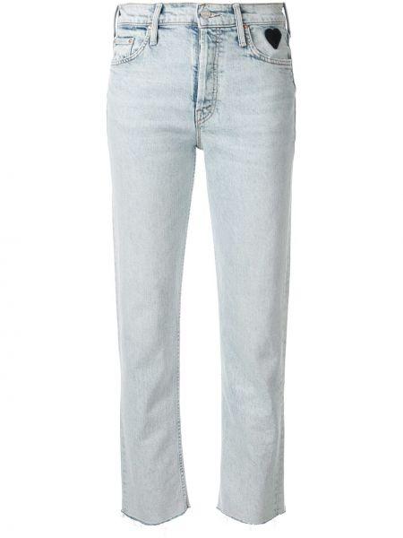 Прямые джинсы синие на пуговицах Mother