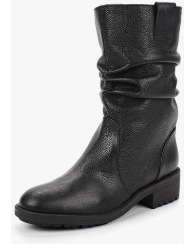 Черные полусапожки на каблуке Calipso