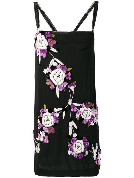 Платье с вышивкой винтажное с вырезом на молнии Dolce & Gabbana Pre-owned