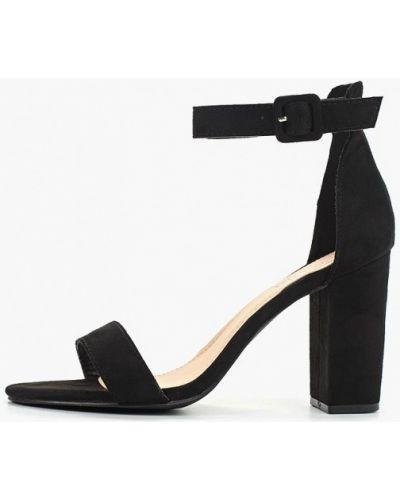 Босоножки черные на каблуке Queen Vivi