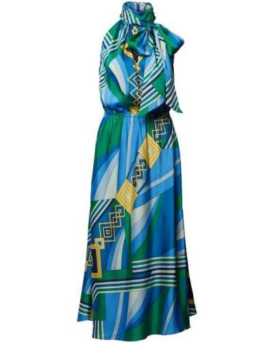 Niebieska sukienka z kokardą Lauren Ralph Lauren