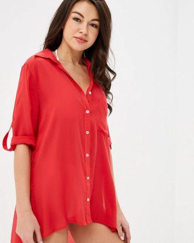 Пляжное платье весеннее красный Phax