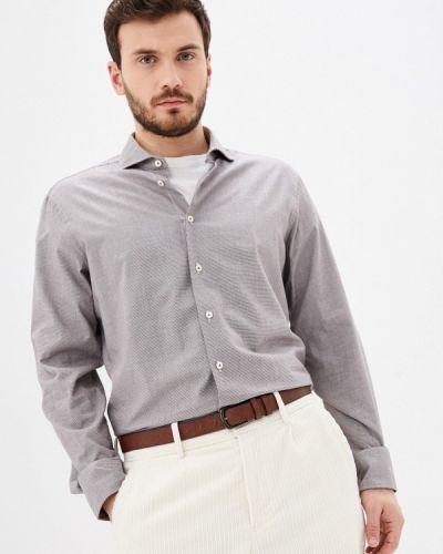 Серая с рукавами рубашка Van Laack