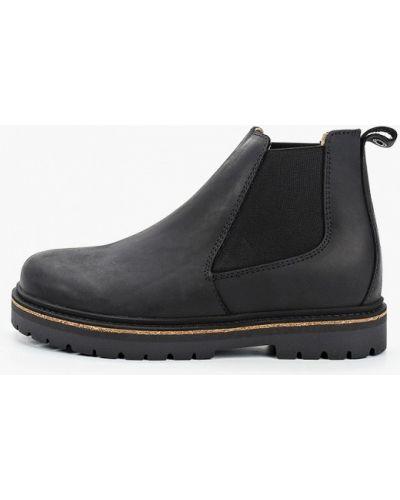 Черные кожаные ботинки челси Birkenstock