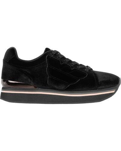 Текстильные кроссовки - черные Emporio Armani