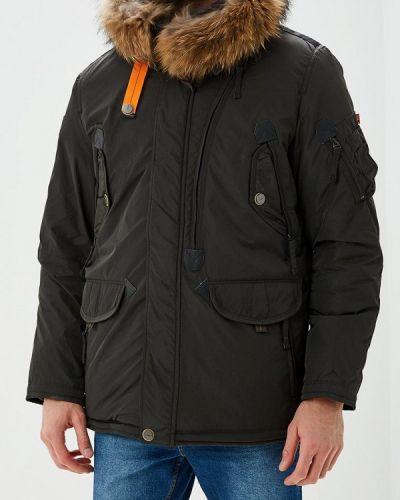 Зимняя куртка утепленная черная Vizani
