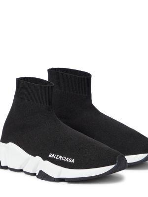 Домашние текстильные черные кроссовки Balenciaga