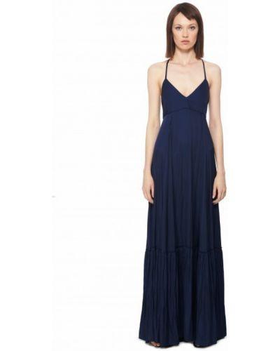 Платье макси - синее Barbara Bui