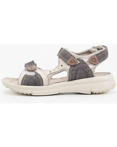 Серые текстильные сандалии Marco Tozzi