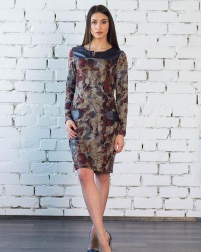Платье из ангоры бежевое инсантрик