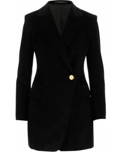 Czarny płaszcz Tagliatore