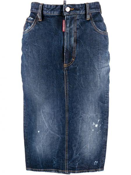 Джинсовая юбка на пуговицах карандаш Dsquared2
