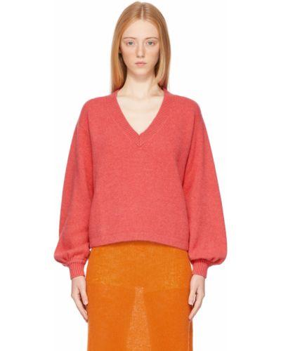 Розовый свитер с воротником The Elder Statesman