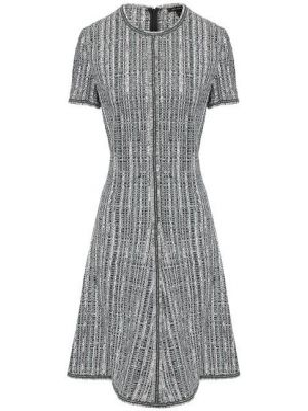 Платье с бахромой - зеленое St. John
