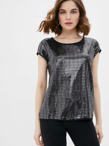 Блузка с коротким рукавом черная весенний Lina