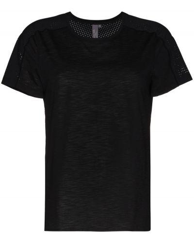 Czarny t-shirt bawełniany do biegania Sweaty Betty