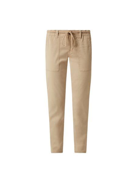 Spodnie bawełniane - beżowe Opus