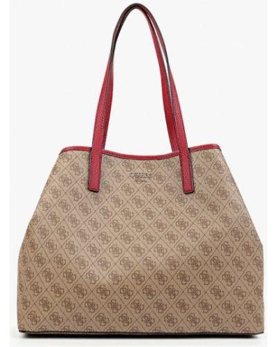 Кожаная сумка шоппер из искусственной кожи Guess