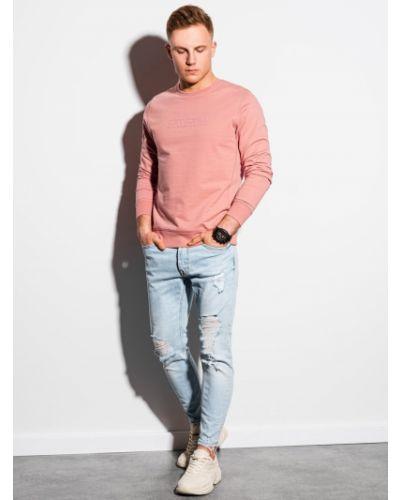 Różowa bluza dresowa bawełniana Ombre