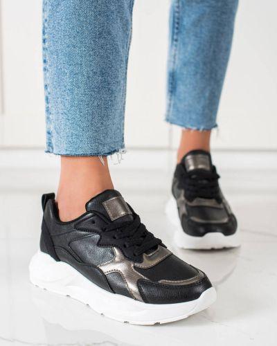 Czarne buty sportowe casual Shelovet
