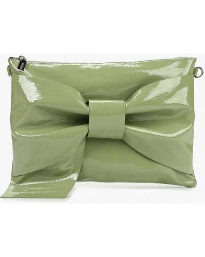 Клатч лаковый зеленый Vitacci