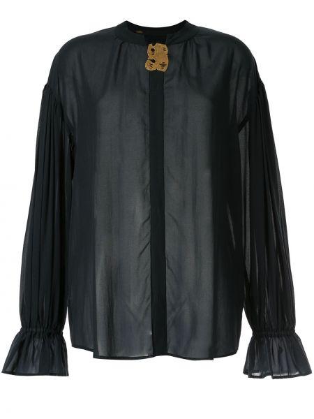Блузка с воротником-стойкой прозрачная Muller Of Yoshiokubo
