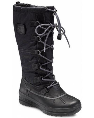 Зимние ботинки черные на шнуровке Ecco