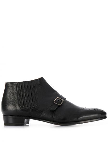 Черные кожаные ботинки с пряжкой Lidfort