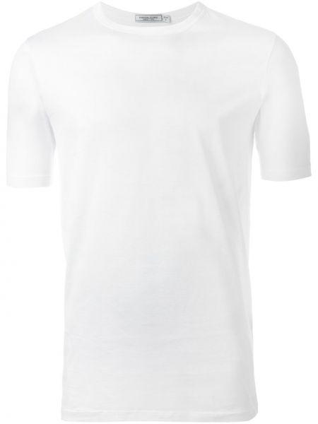 Белая хлопковая футболка с круглым вырезом Fashion Clinic Timeless