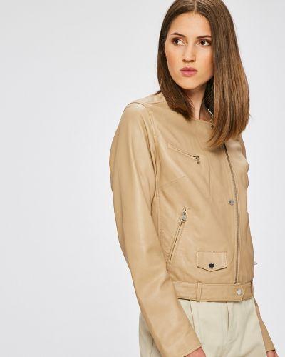 Кожаная куртка облегченная с карманами Ochnik