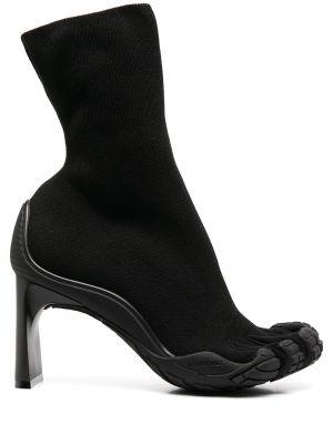Черные пинетки стрейч на каблуке Balenciaga