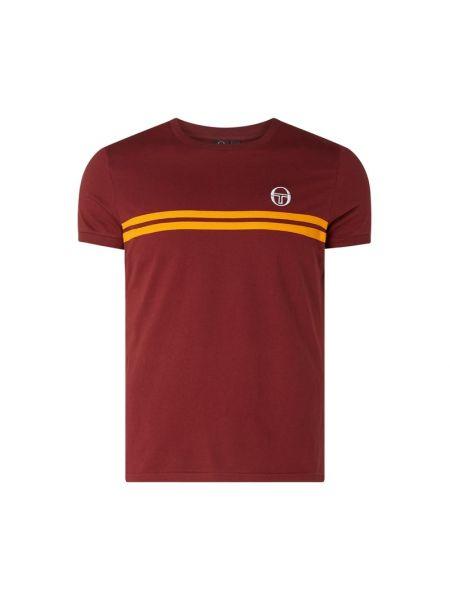 Koszula z paskami z logo Sergio Tacchini