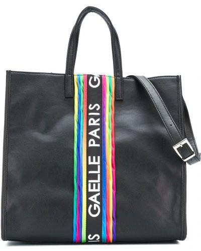Черная сумка-тоут на молнии квадратная Gaelle Paris Kids