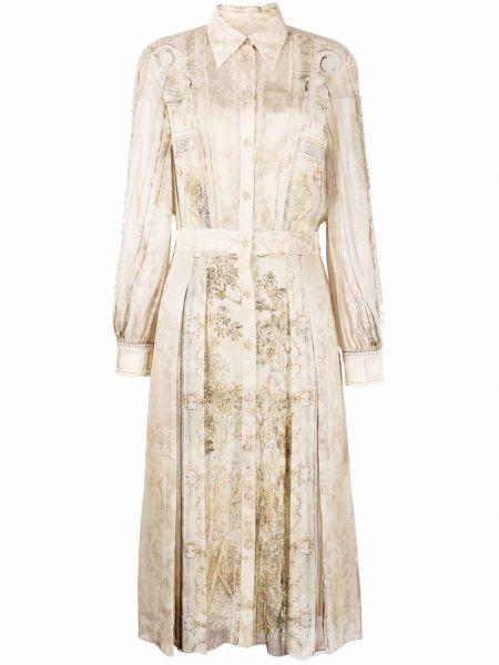 Шелковое платье макси Alberta Ferretti