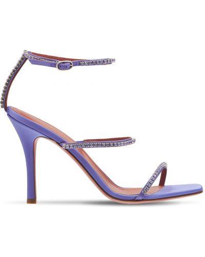 Фиолетовые кожаные босоножки Amina Muaddi