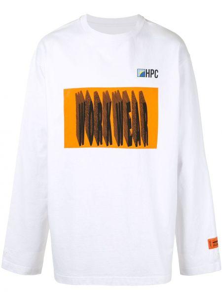 Pomarańczowy bawełna z rękawami koszula Heron Preston