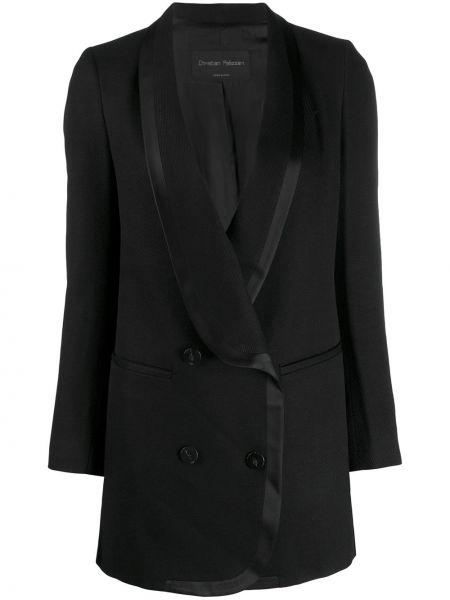 Черный пиджак с карманами Christian Pellizzari