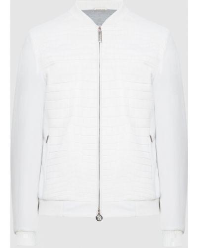 Кожаная куртка из крокодила - белая Stefano Ricci