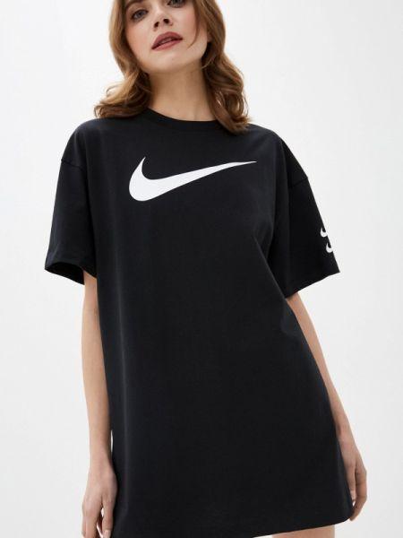 Платье платье-сарафан черное Nike