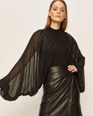 Блузка однотонная с воротником-стойкой Answear