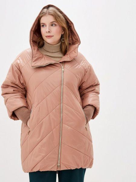 Теплая розовая утепленная куртка симпатика