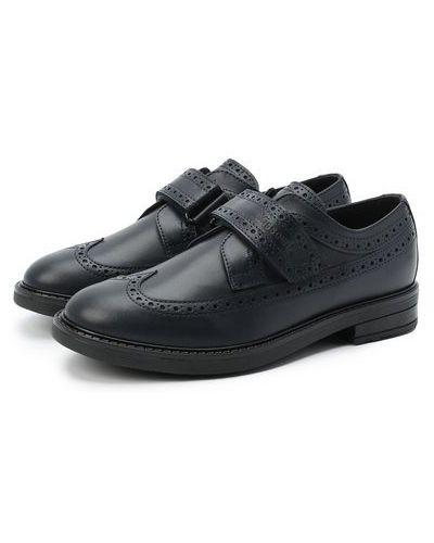 Синие кожаные туфли с подкладкой Missouri