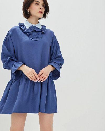 Платье прямое синее Sister Jane
