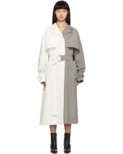 Z rękawami długo płaszcz z kieszeniami z klapą z kołnierzem Givenchy