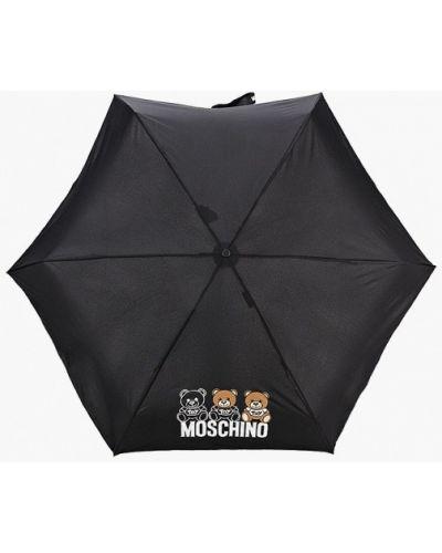 Черный складной зонт Moschino
