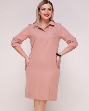 Деловое платье на пуговицах платье-сарафан Ellcora