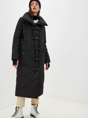 Утепленная куртка демисезонная черная Malaeva