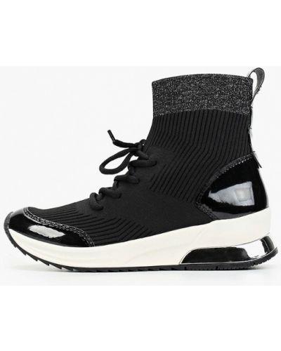 Высокие кроссовки черные Tamaris