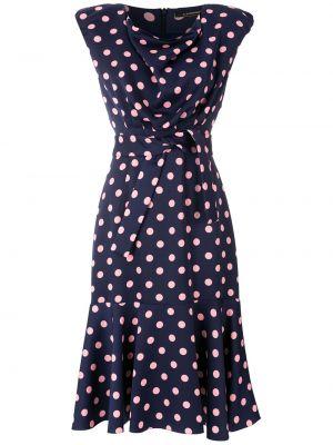 Зауженное платье миди - синее À La Garçonne
