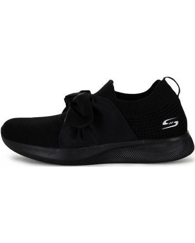 Черные кроссовки с бантом Skechers
